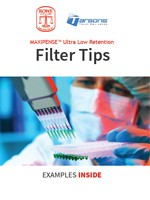 Rowe Scientific Tarsons Filter Tips Catalogue cover
