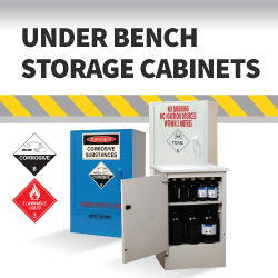 Under Bench Safety Storage Cabinets