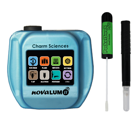 Charm NovaLUM II and Field Swabs